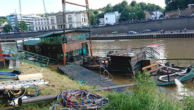 Beispiel Arbeitsboote & Pontons von Tauchservice Siemon aus Trier