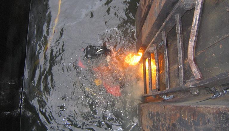 Unterwasser Schweißen